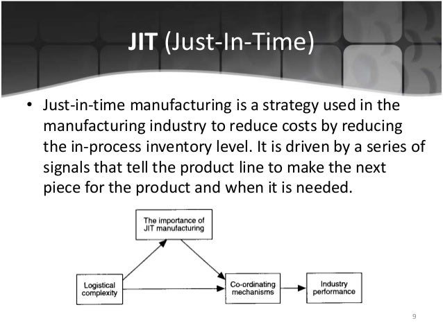 Just in time production at hewlettpackard