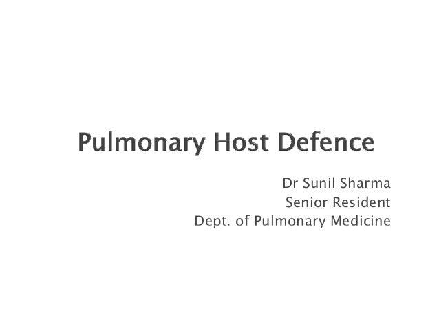 Dr Sunil Sharma Senior Resident Dept. of Pulmonary Medicine