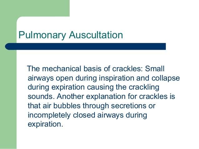 crackle definition medical