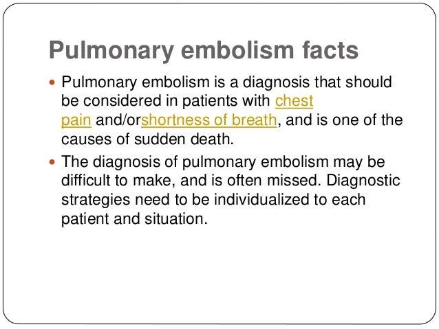 pulmonary embolism Flashcards and Study Sets | Quizlet