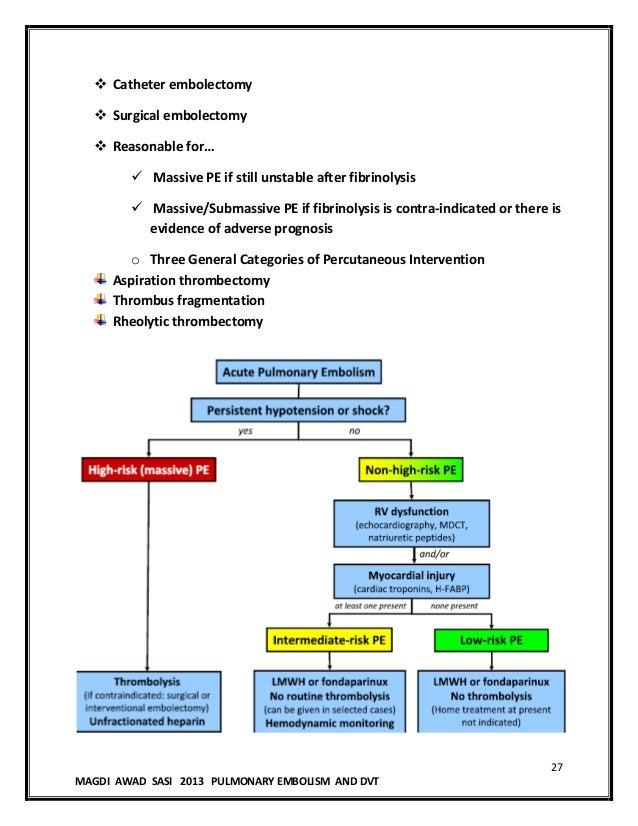 Pulmonary embolism ms