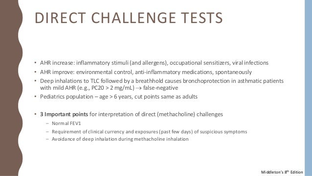 Pulmonary function test and bronchial challenge test