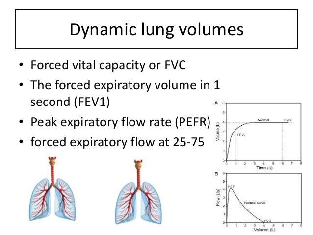 Forced vital capacity or FVC is volume of the air that can be expired rapidly with max force following a max inspiration, ...