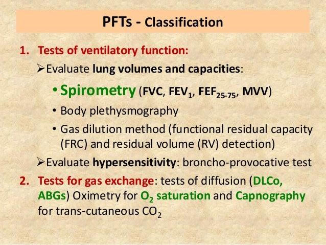 Pulmonary function testing (spirometry )  Slide 3