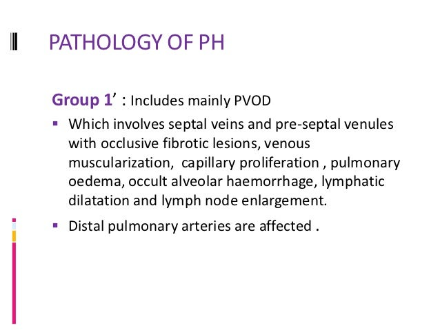PATHOLOGY OF PHGroup 4 -CTEPH: Characterized by organized thrombi tightly attached to  medial layer in pulmonary arteries...