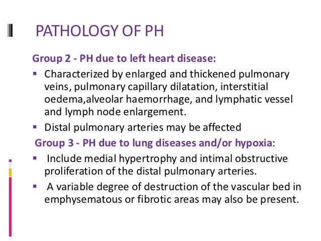 PATHPHYSIOLOGY OF PHGroup 1-The exact processes that initiate the pathological  changes seen in PAH are still unknown The...