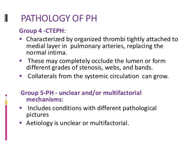 PATHPHYSIOLOGY OF PHGroup 3- mechanisms include Hypoxic vasoconstriction, mechanical stress of  hyperinflated lungs, infl...