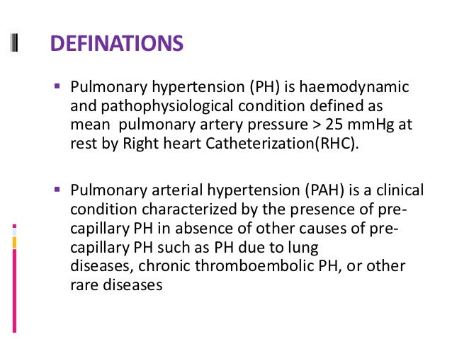 HISTORY E. Romberg, German doctor published description of  autopsy, showed thickening of the pulmonary artery but  no he...