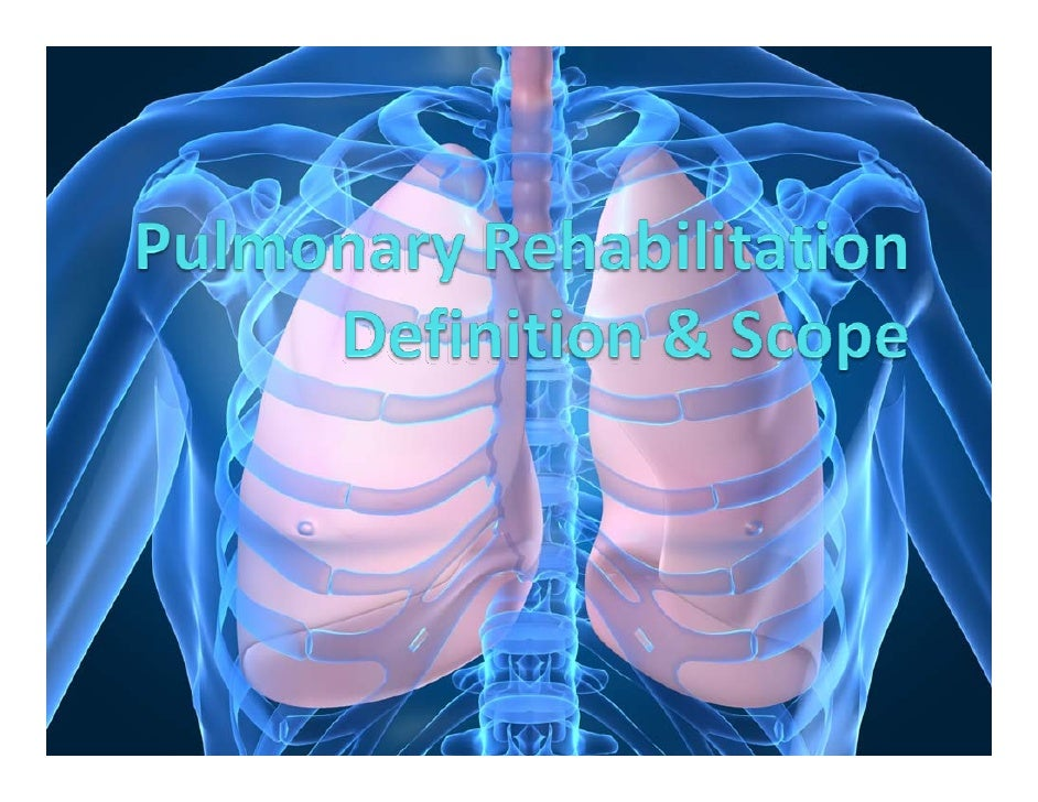 In1974 acommitteeoftheAmericanCollegeofChestPhysicians(ACCP)defined pulmonaryrehabilitation.  In1981 theAme...