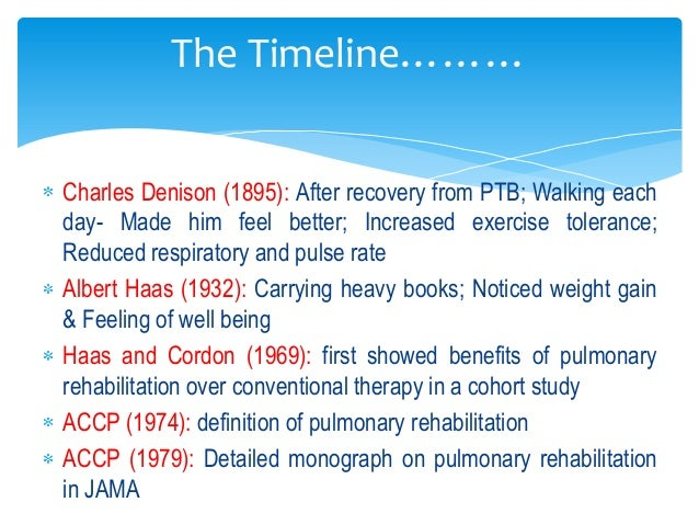 effects of pulmonary rehabilitation health and social care essay Background chronic obstructive pulmonary disease (copd) patients are confronted with reduced daily activities (da) and reduced health-related quality of life (hrqol) caused by dyspnea and systemic effects such as skeletal muscle dysfunction and co-morbidities.