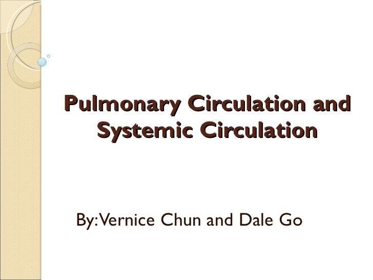 Simple pulmonary circulation diagram wiring diagram pulmonary systemic circulation rh slideshare net systemic circulation blood flow systemic vs pulmonary circulation ccuart Image collections