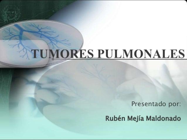 Anatomía Patológica de los Tumores Pulmonares Slide 1