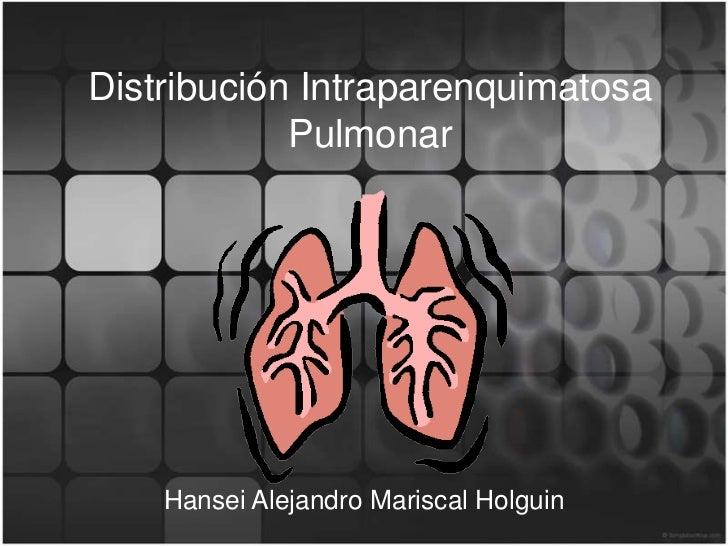 Distribución Intraparenquimatosa            Pulmonar    Hansei Alejandro Mariscal Holguin