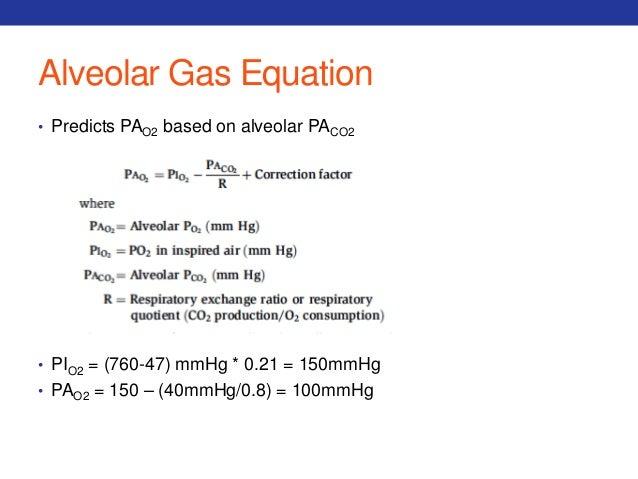 Alveolar Ventilation Formula