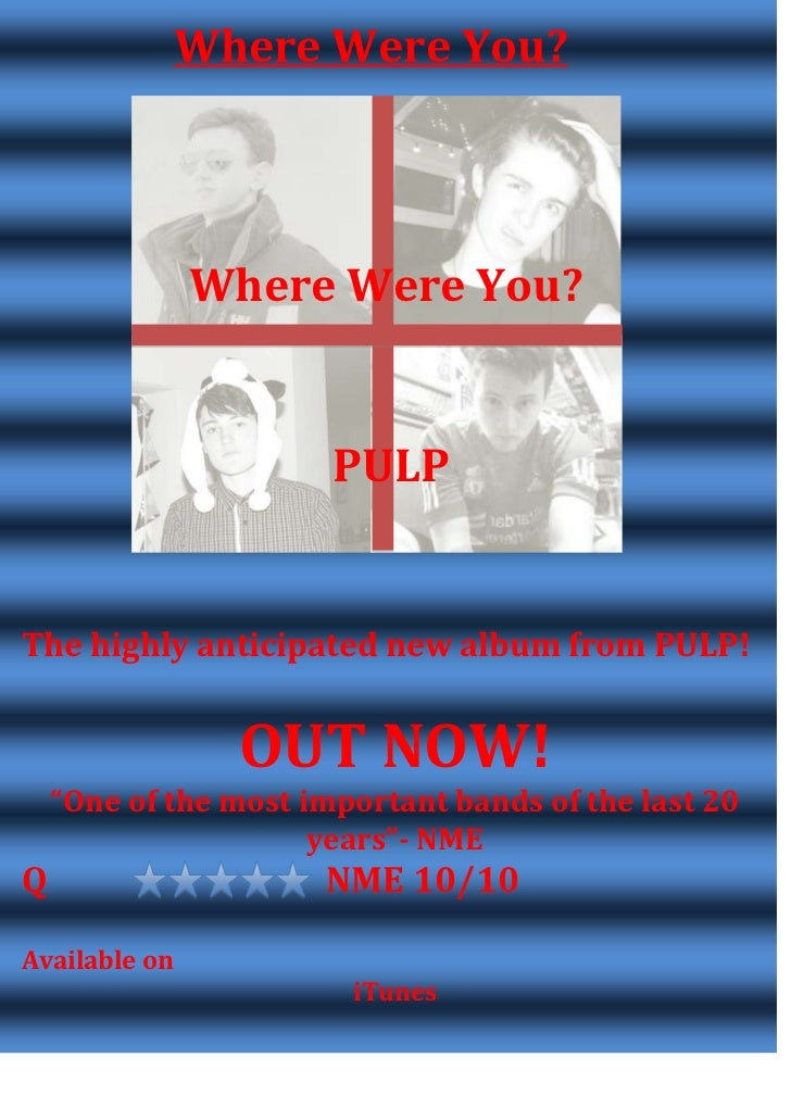 Where Were You?               Where Were You?                       PULPThe highly anticipated new album from PULP!       ...