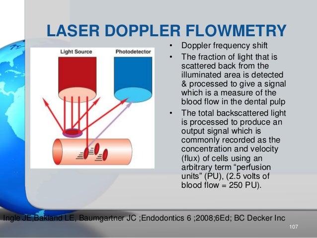 LASER DOPPLER FLOWMETRY • Doppler frequency shift • The fraction of light that is scattered back from the illuminated area...