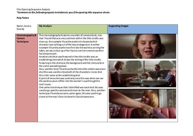 pulp fiction film analysis