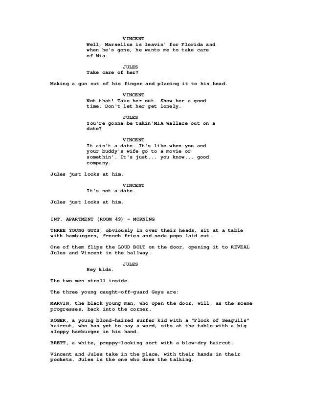 pulp fiction a quentin tarantino screenplay pdf