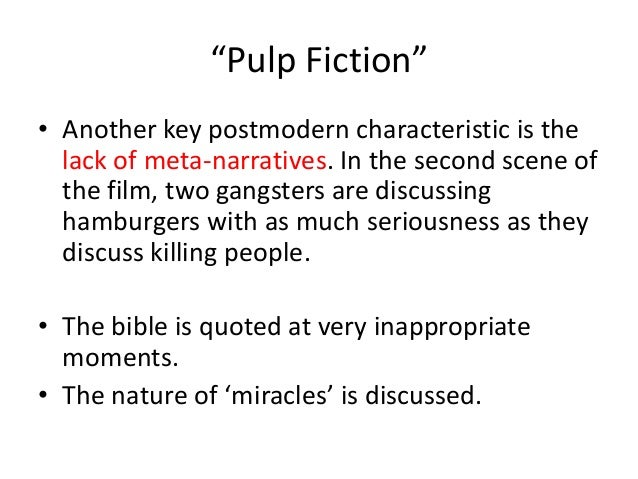 Post on Postmodernism at Pulp Fiction
