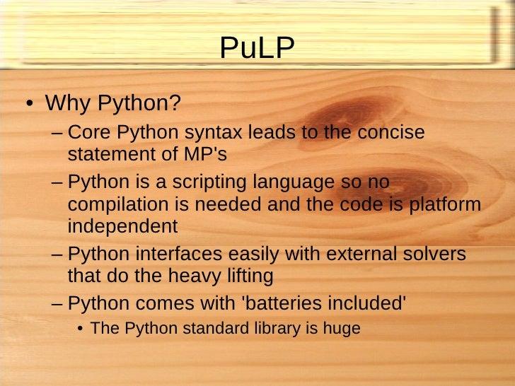 Stuart Mitchell - Pulp Optimisation