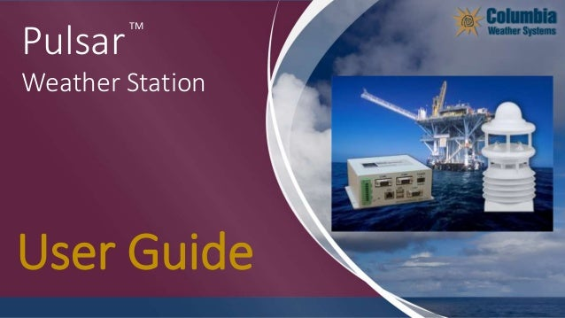 TM Pulsar Weather Station User Guide
