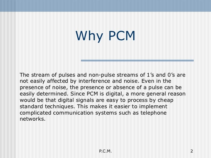Pulse code modulation (pcm) ppt video online download.