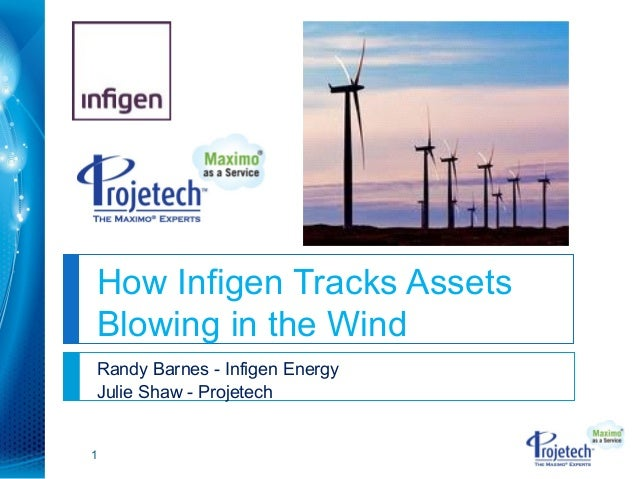 How Infigen Tracks AssetsBlowing in the WindRandy Barnes - Infigen EnergyJulie Shaw - Projetech1