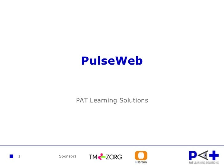 1 PulseWeb PAT Learning Solutions