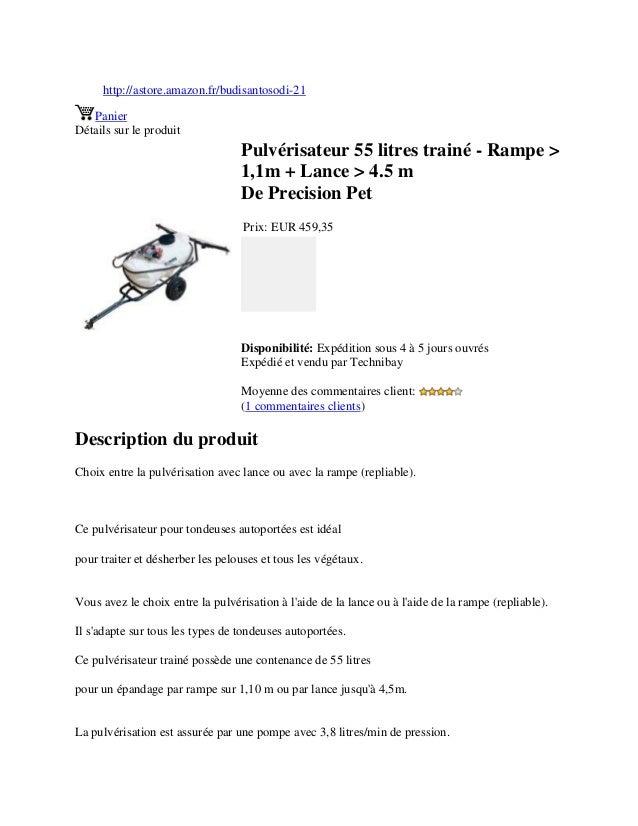 http://astore.amazon.fr/budisantosodi-21PanierDétails sur le produitPulvérisateur 55 litres trainé - Rampe >1,1m + Lance >...