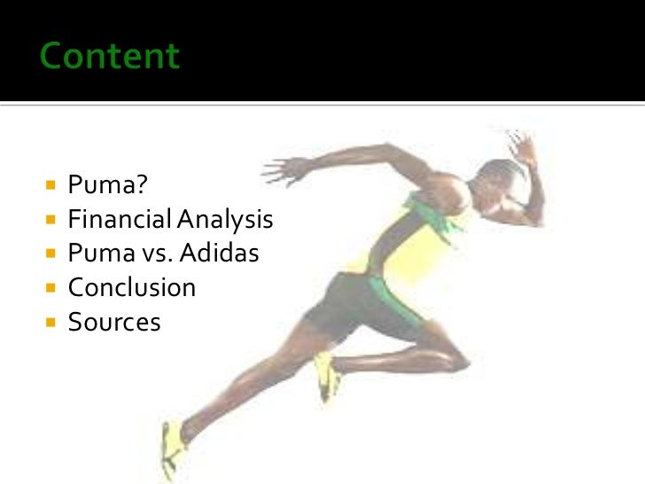 Financial analysis of adidas puma and