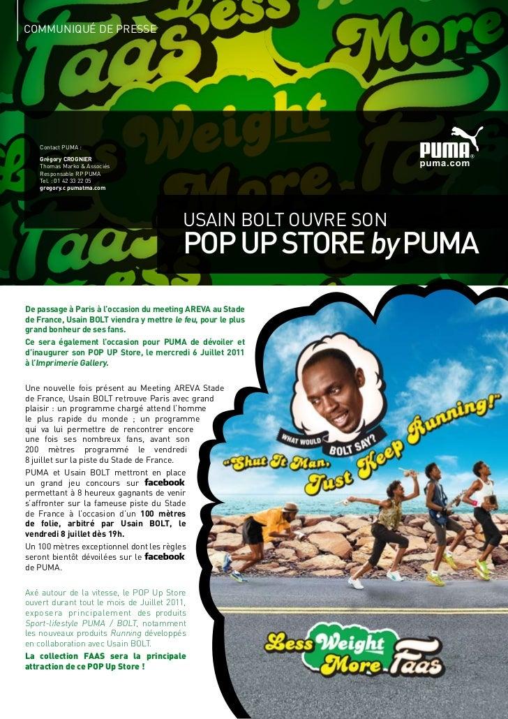 COMMUNIQUé DE PRESSE   Contact PUMA :   Grégory CROGNIER   Thomas Marko & Associés   Responsable RP PUMA   Tel. : 01 42 33...