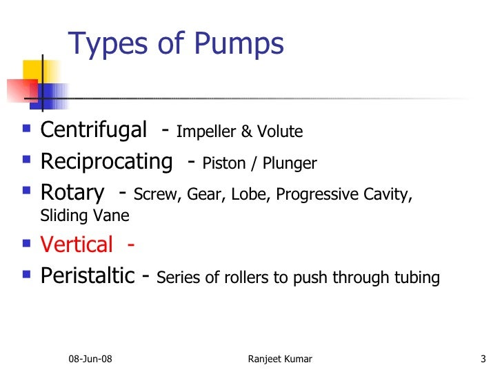 Centrifugal Pumps: Types Of Centrifugal Pumps Ppt
