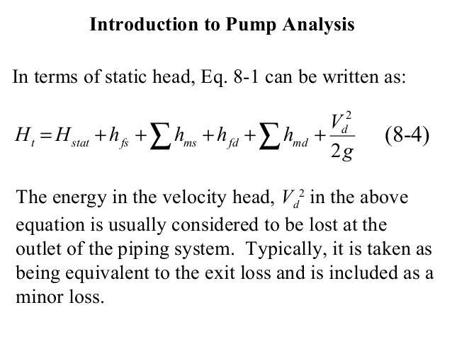 bernoulli 39 s equation pump. 16. introduction to pump analysis bernoulli\u0027s equation bernoulli 39 s a
