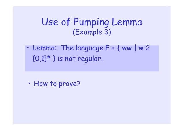Regular Pumping Lemmas