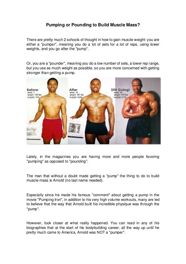 Pumping Or Pounding To Build Muscle Mass