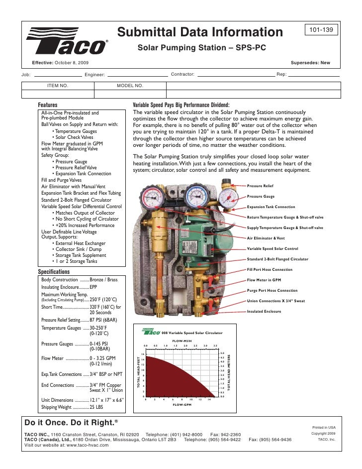 Submittal Data Information                                                                                                ...