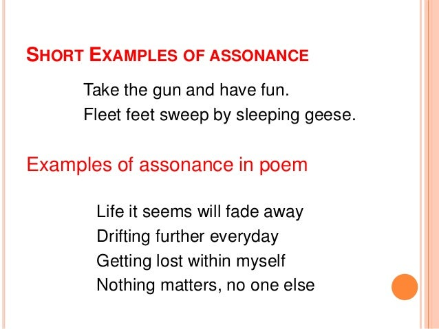 examples of assonance alisen berde