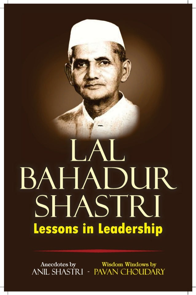 Punctuality (Circa 1962) Shastriji was a punctual person and taught us also to be on time too. Once he was going out of st...
