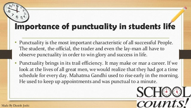 why is punctuality important