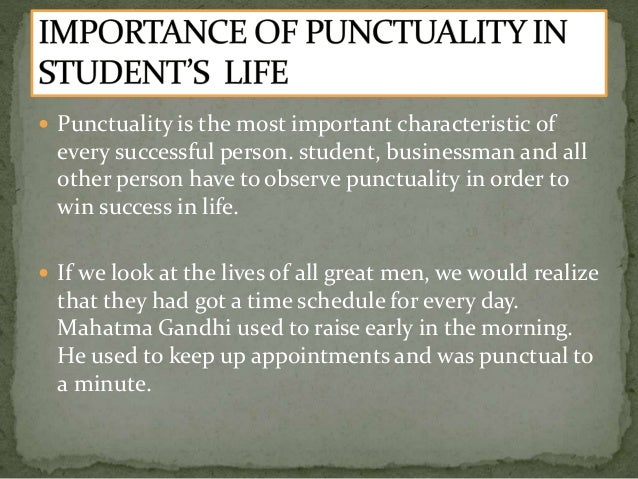 punctuality in school life