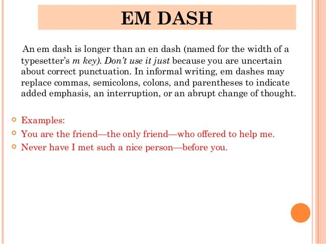 Using Dashes in Text
