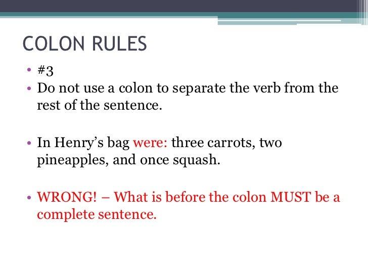 punctuation colon semi colon