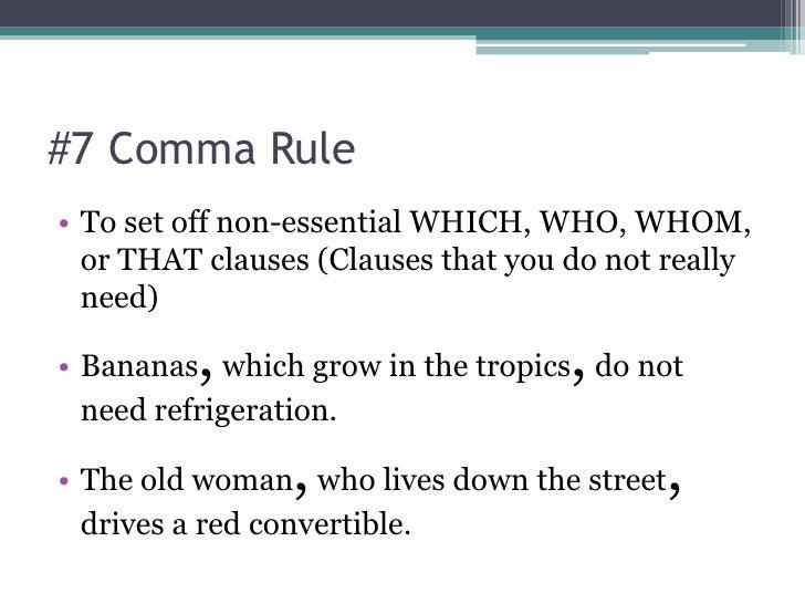Which Comma