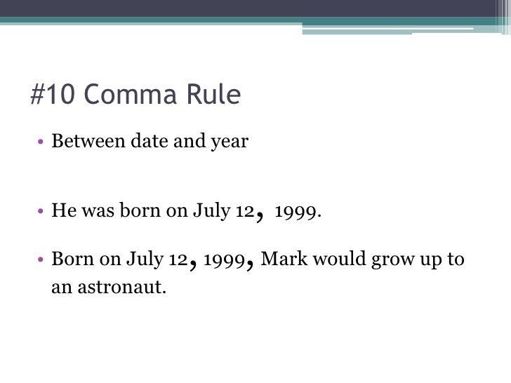 comma punctuation