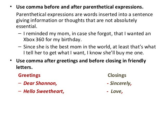 How to write parenthetical sentence