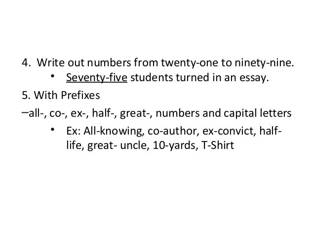 when do you start writing out numbers in essays