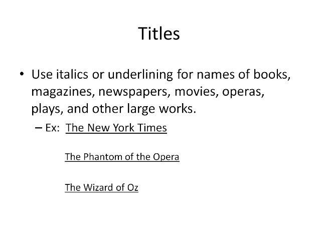 punctuating movie titles essay