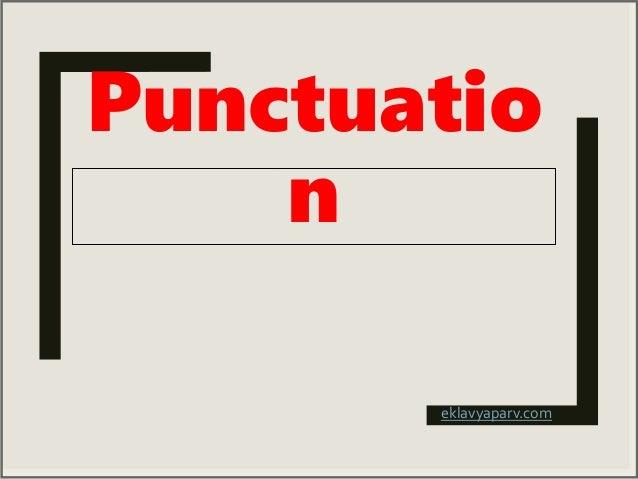 Punctuation Marks in English Grammar Slide 2