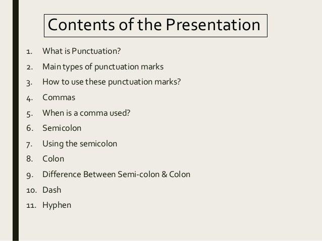 Punctuation Marks in English Grammar Slide 3