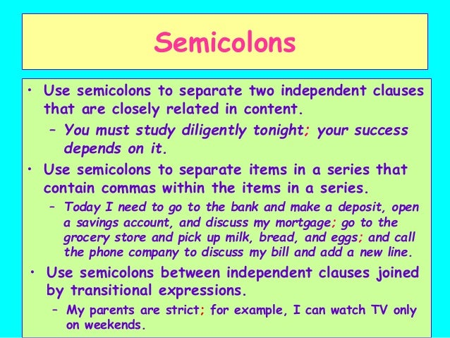 Using Semicolons